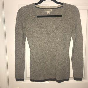 Grey Banana Republic V-Neck Sweater